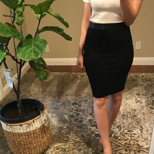 Bebe Black Pencil Skirt